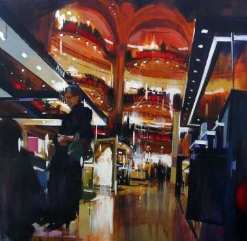 Yong-Man KWON - grand magasines - Peinture - acrlique sur toile