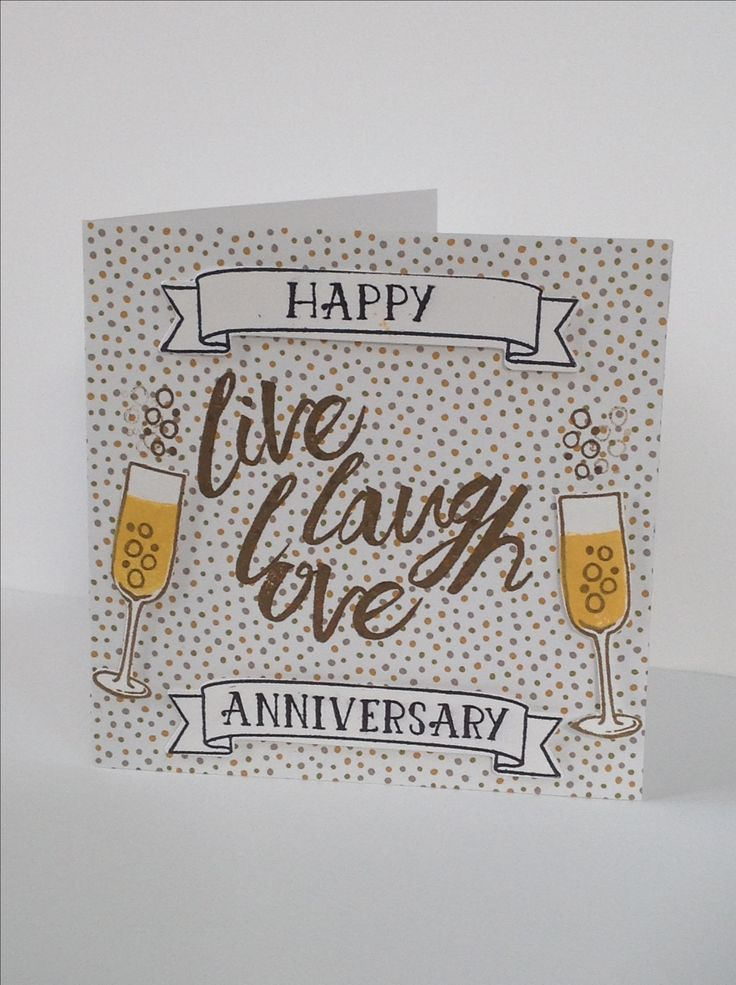 Anniversary card using Stampinu0027 Up Products