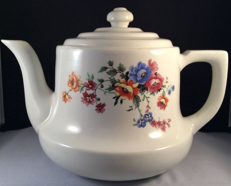 On Sale:  Vintage HALL Drip-O-Lator Teapot - The Enterprise Aluminum Company - Floral Pattern