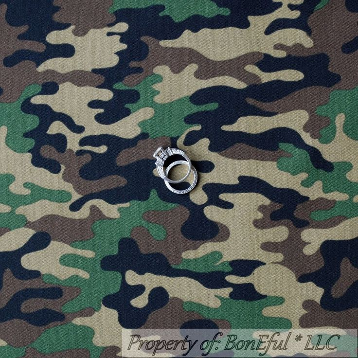 BonEful Fabric Cotton Quilt Brown Green Camo Army Boy Military Toy Story L SCRAP