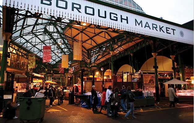 Wholesale fruit and vegetable market in London