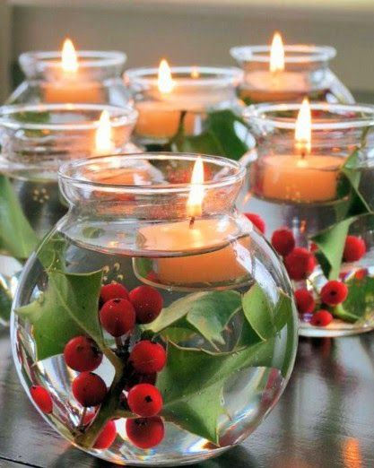 Easy Decorating Ideas for Christmas        Tie a plaid ribbon around the throat of the jar.  jbt