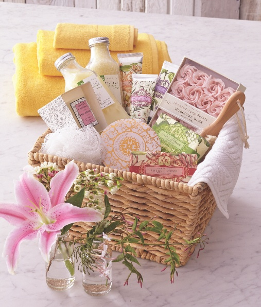 Give your mom a day at the spa without leaving her house using Cost Plus World Market's soaps, lotions and candles. A perfect gift basket for the spa lover. >> #WorldMarket Mother's Day
