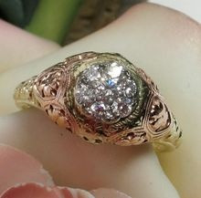 Vintage 14k JABEL Friendship or Dinner Diamond Ring is Glorious! Only $1095!