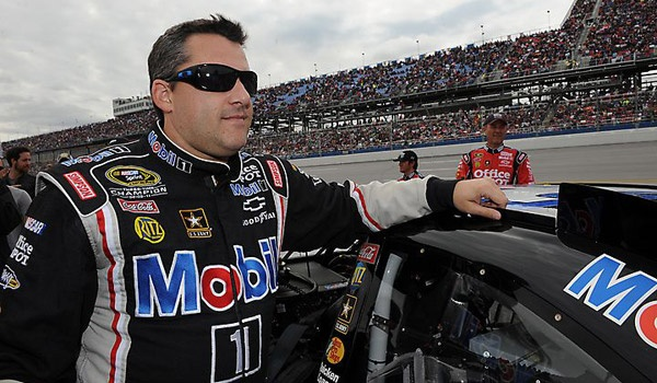 Tony Stewart during pre-race ceremonies for the Good Sam Roadside Assistance 500 at Talladega. For more photos from Talladega, visit: http://www.stewarthaasracing.com/fan/galleries/2012-Good-Sam-Roadside-Assistance-500/#
