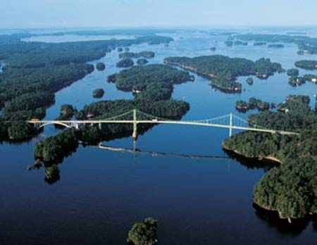 Thousand Islands, NY-YES...Thousand Island Dressing was named for this!