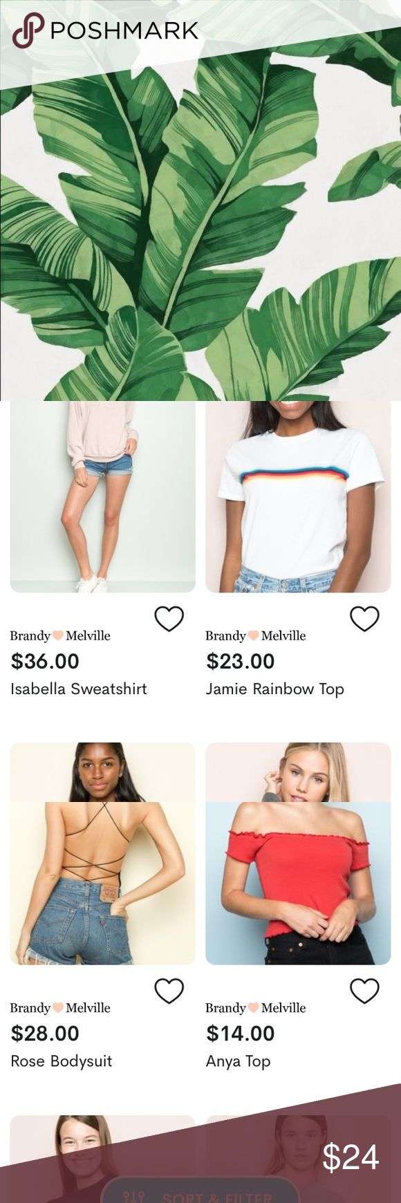 Try dote the shopping app for your ISO! Are you searching for the really cute Brandy top, jacket, pants, jeans, or sweatshirt?! Well, you should try dote because you can get your in search of for cheap! If you use my code MV6M you get your first purchase with a discount, $5 off AND free shipping! Dote is 100% trustworthy:) Brandy Melville Tops