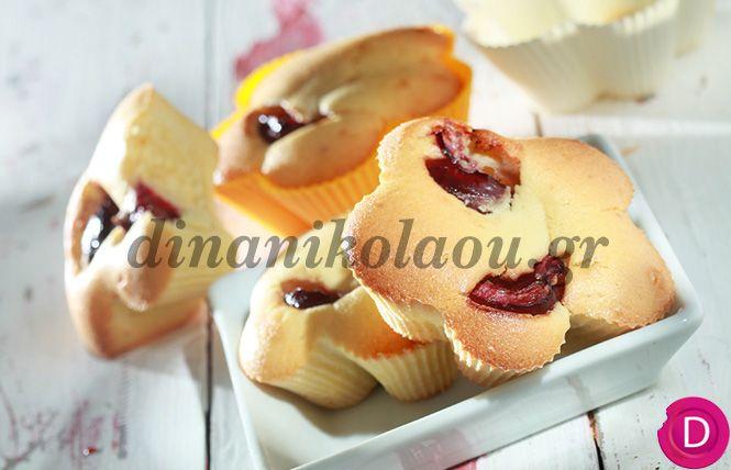 Κέικ με κεράσια | Dina Nikolaou