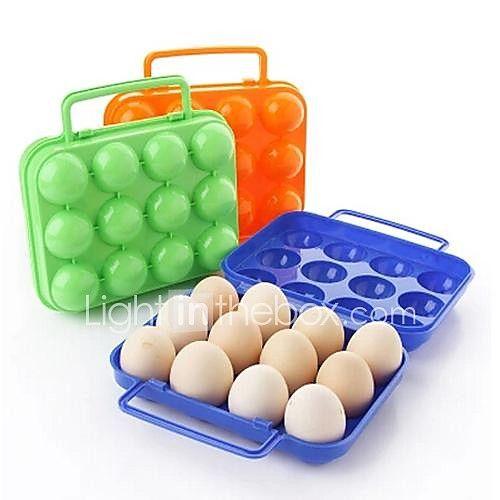 12 опоясывает Коробочки Пластиковые яйца (Random Color) 2017 - $3.99