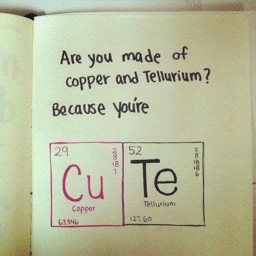 Chemistry pick up line guys