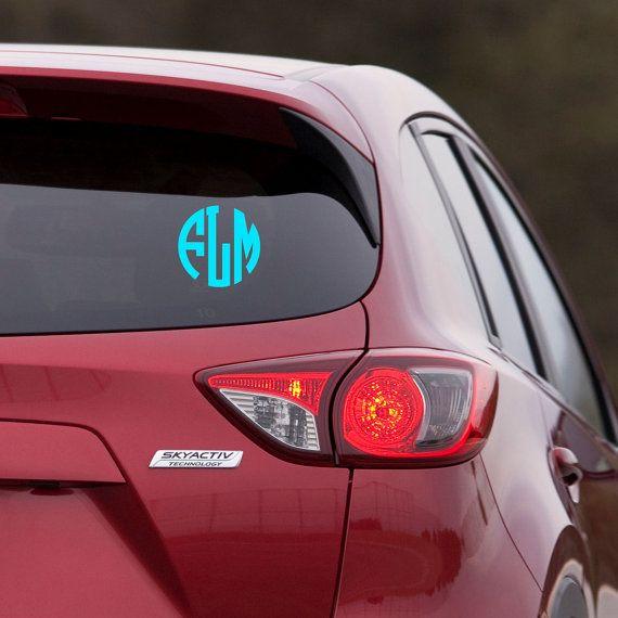 Beste Ideer Om Block Fonts På Pinterest D Letters Og - Circle monogram car decal