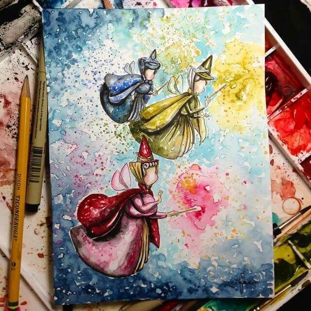 tableau peinture walt disney
