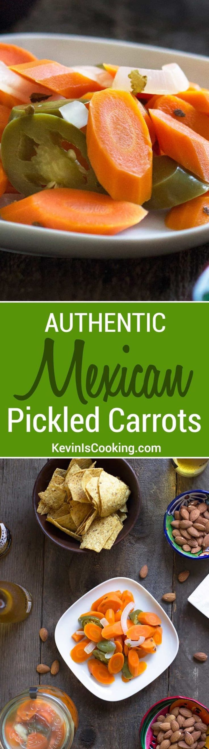 These Authentic Mexican Pickled Carrots a great make-it-at-home version that are just like the ones you get at Mexican restaurants and so easy to make! via @keviniscooking