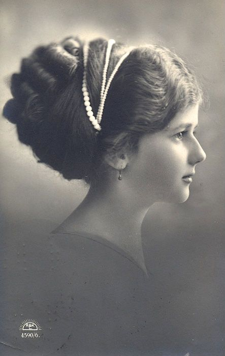 Vintage lady profile II by MementoMori-stock.deviantart.com on @deviantART