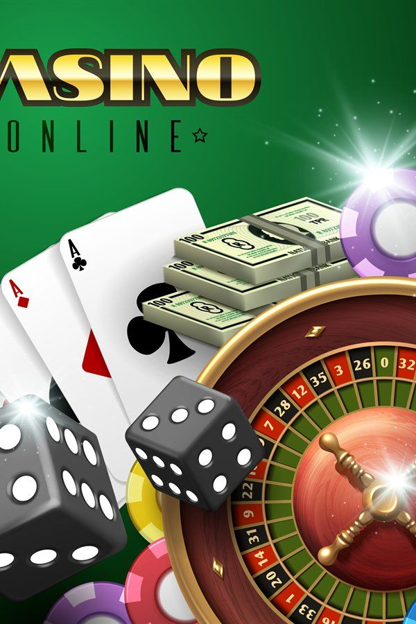 Online casino gambling vector background with roulette, dice (863420) |  Illustrations | Design Bundles in 2021 | Online casino, Poker cards, Casino