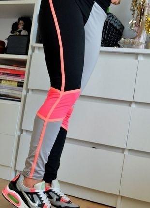 Kup mój przedmiot na #vintedpl http://www.vinted.pl/damska-odziez/spodnie-sportowe/10529146-spodnie-do-cwiczen-biegania-neon-kolor