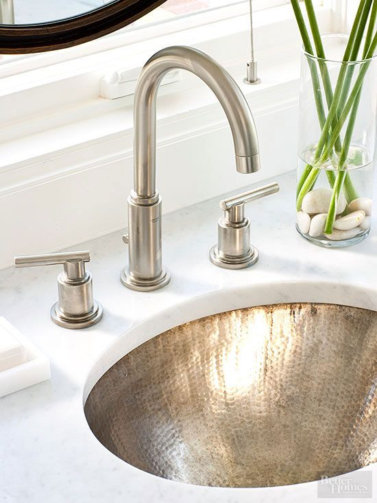 hammered nickel sink, faucet