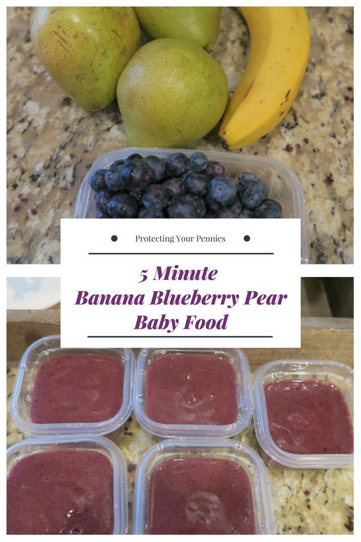 5 Minuten Blueberry Banana Pear Babynahrungspüree   – Pureed Food Recipes for babies and toddlers