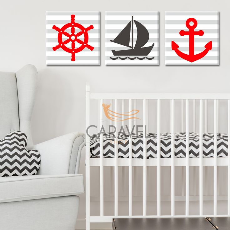 Παιδικός Πίνακας σε καμβά ΣΕΤ με καράβι