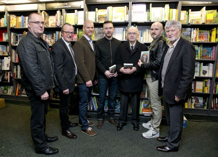 John O'Callaghan, author of 16 Lives: Con Colbert, with members of the Colbert family, series editors Ruan O'Donnell and Lorcan Collins and publisher Michael O'Brien.