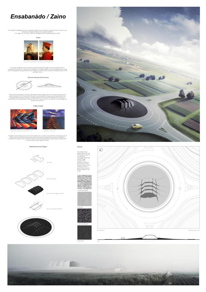 Gallery of YAC Announces Winning Projects for Two Road Monuments Celebrating Lamborghini's Legend - 1