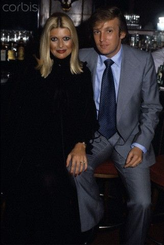 Donald and Ivana Trump  Donald and Ivana Trump at the bar of Studio 54 during Lorna Luft's 25th birthday celebration