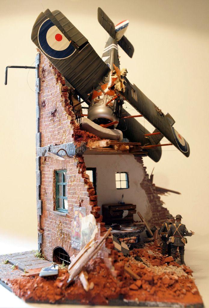 Super cool diarama! Crashed #airplane model