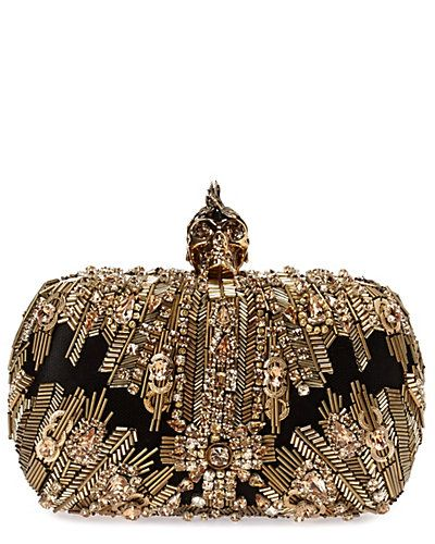 Alexander McQueen Swarovski® Crystal-Embroidered Punk Skull Clutch.This would go nice with some of these evening dresses.