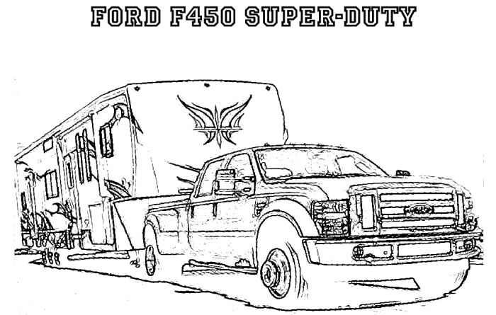 truck trailer coloring pages - photo#28