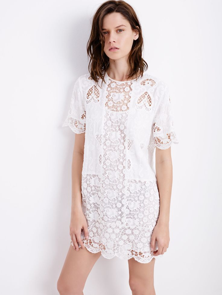Time to wear #Whit! Try this Lace Dress, $129 from Zara #FearlessFashionista