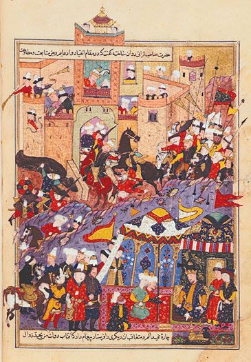 Timur during attack on Balkh in 1360's, Timurid Empire