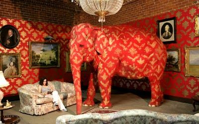 Banksy's painted elephant is illegal, say officials.