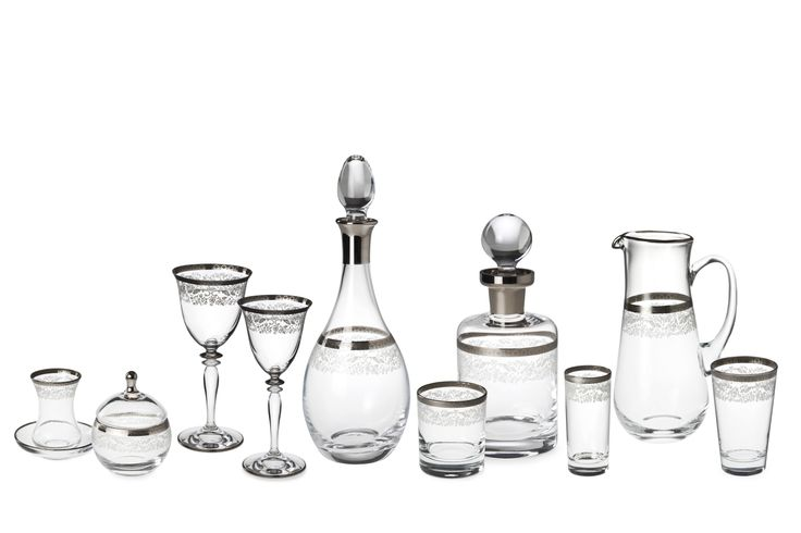 Bridal Platinum Bardak Takımı / Glass Set #bernardo #tabledesign #glass #platinum