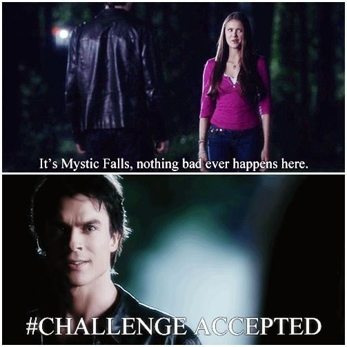 14. This depiction of Mystic Falls:LOL it's hell on earth.