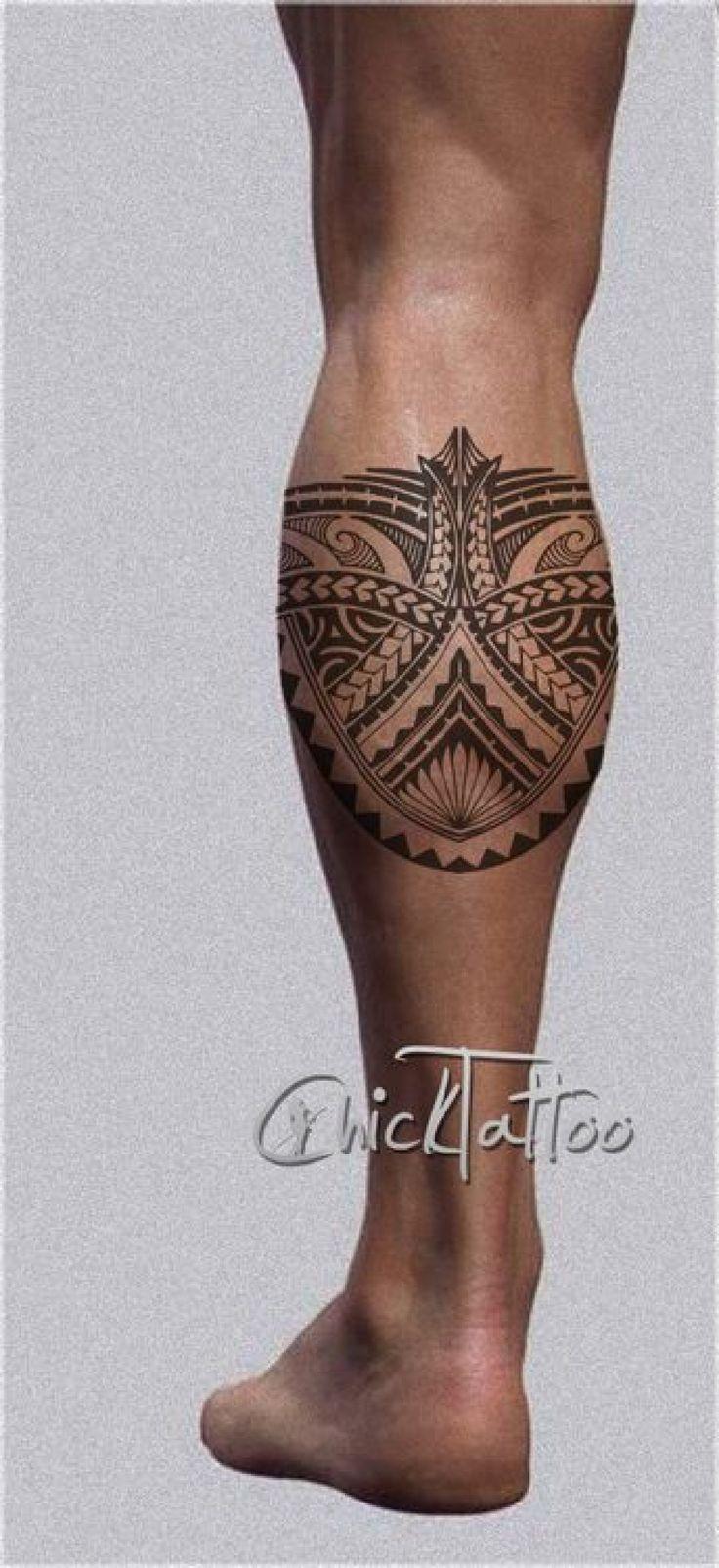 Les 25 meilleures id es de la cat gorie tatouage maorie mollet sur pinterest tatouages au - Tatouage maori jambe ...