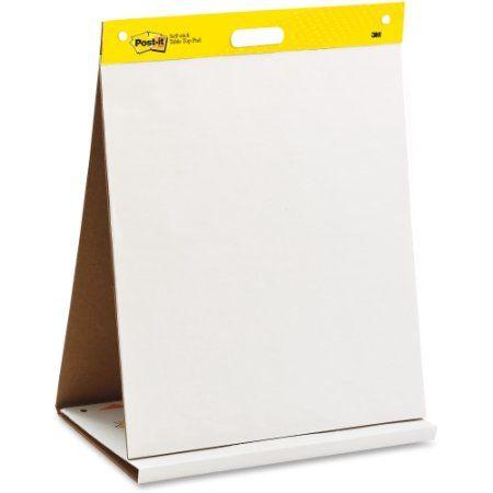 Tabletop Easel Pad, Super Sticky, 20 Sht, 20 inchx23 inch, Plain WE MMM563R, Blue