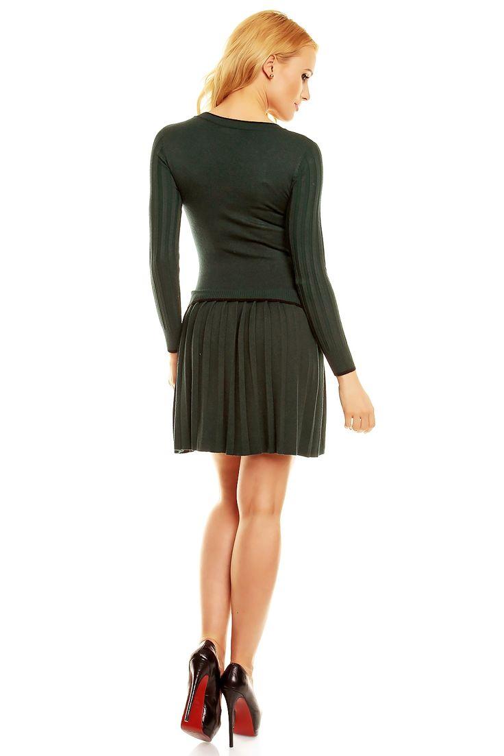 Dark green dress wool 45% polyamid 25% kashmir 20% elastan 10%  #fashioneda