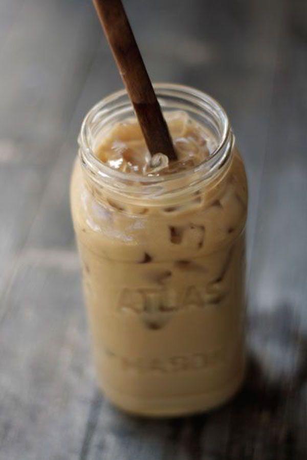 Café helado vietnamita  o cà phê sữa đá. Receta