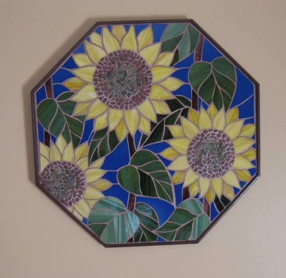 Sunflower Mosaic   Wall Art  Art glass MO005