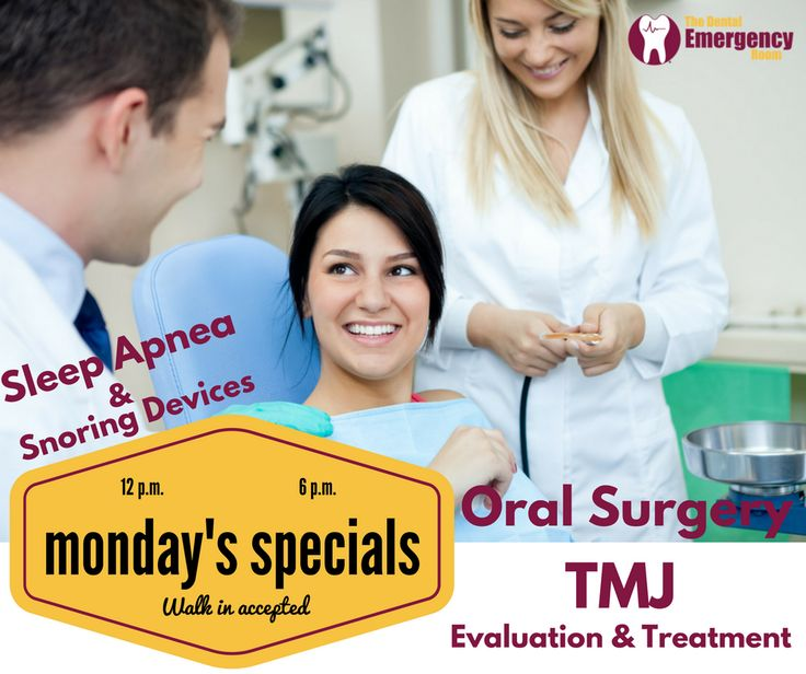 Our #Mondays #Specials: #Oral #surgery, #TMJ #evaluation & #treatment. in addition to #Sleep #apnea & #Snoring #devices. The #dental #emergency #room: 707 E lake street, #minneapolis, #MN 55407 Tel:(612) 354-3015 #Walk #in #accepted.