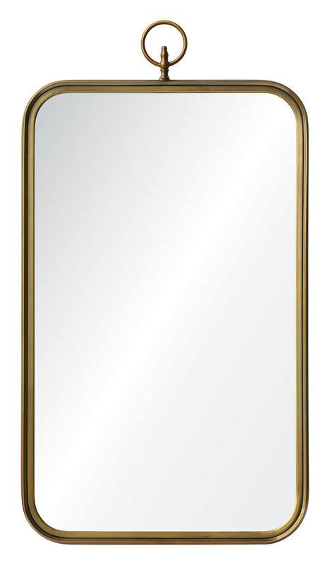 22 X 36 Mirror Part - 28: Ren-Wil MT1508 22x36 Coburg Mirror With Metal Frame In
