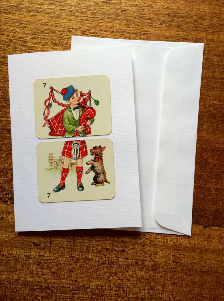 Vintage boys/mans greeting card, Retro greeting card, Man and his best friend greeting card, Blank greeting card, Scottish greeting card by RetroMementos on Etsy