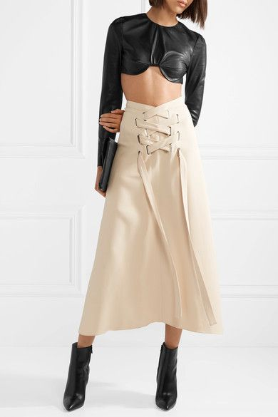 TRE Cropped leather top