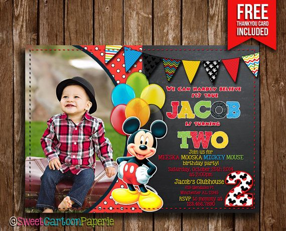 55 best mickey mouse images on pinterest | mickey mouse parties, Birthday invitations
