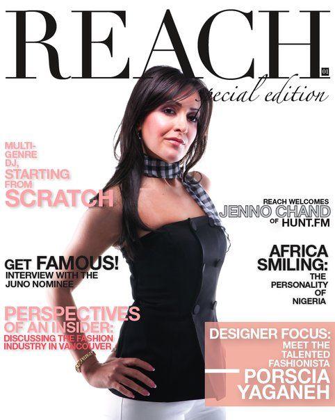 #PorsciaYeganeh® Front cover- Reach magazine