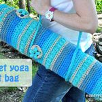 #33.Crochet Yoga Mat Bag: Crochet Ideas, Yoga Bags, Crochet Projects, Free Crochet, Crochet Yoga, Crochet Bags Patterns, Free Patterns, Crochet Patterns, Yoga Mats Bags