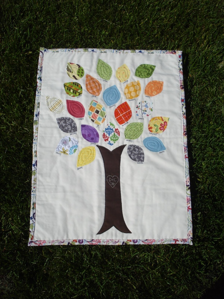 25 Best Ideas About Family Tree Quilt On Pinterest Diy