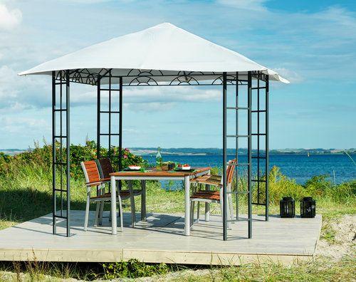 Paviljong FAABORG 3x3m stål/poly hvit | JYSK