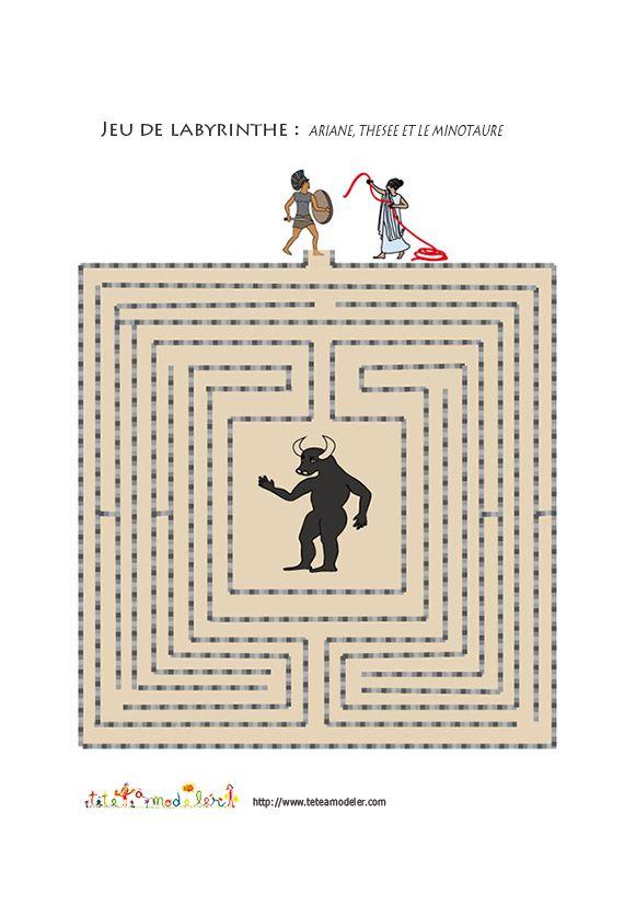 labyrinthe : Ariane , Thésée et le Minotaure