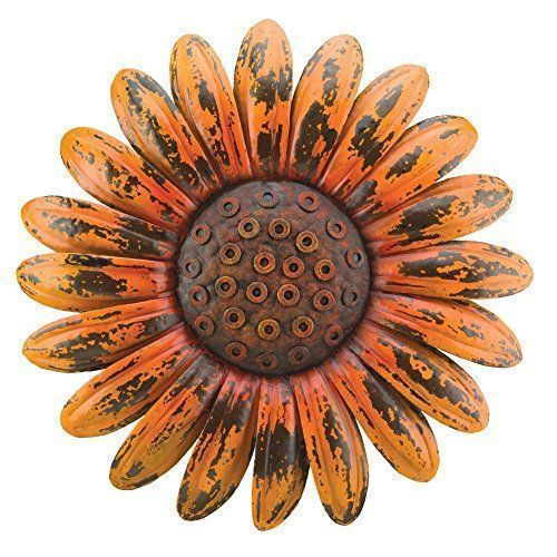 I really like this dark orange colored daisy.  This would cute on a wall inside or outdoors in a garden setting. Regal Art & Gift Rustic Flower Wall Decor, Daisy